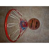 Cesta O Canasta De Baloncesto Basketball Con Balón