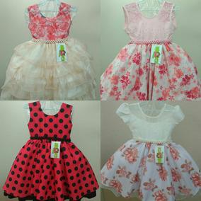 Vestido Menina 4 A 12 Anos Bordado Perola Strass Luxo