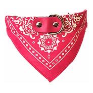 Coleira Para Cachorro Em Corino Com Bandana Rosa