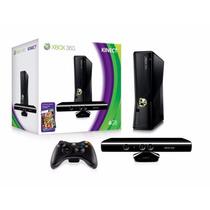 Xbox 360 Ltu Desblo +c/kinect +2controles+2bateriaa+10 Jogos