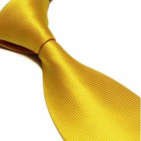 Corbata Tono Dorada Oro | Textura Microcuadros