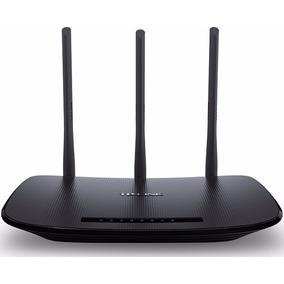 Roteador Wi-fi Tplink Wr 940n 3 Antenas Fixa 5dbi 450mbp