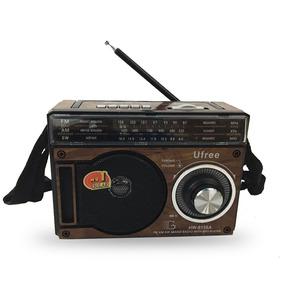 Rádio Portátil Am Fm Sw Usb Cartão Sd Recarregável C/ Tomada