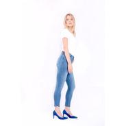 Calça Jeans Feminina Esportiva Runny Cintura Alta