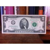 Billetes 2 Dólares Estados Unidos Raro Nuevos 2013 Dallas