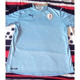 Camiseta De Uruguay Puma Talle Xl Muy Buen Estado Sin Numero