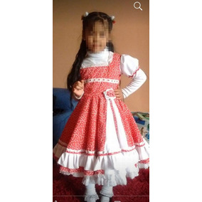 Vestido De Huasa Y Abrigo Talla 6-8