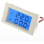 Voltímetro Amperímetro Lcd 300v 100a + Tc Painel Eletrico Ac