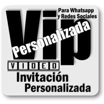 Tarjeta Y Video Invitacion Cumpleaños Personajes Foto 2017