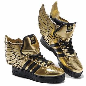 Tênis adidas Jeremy Scott Wings 2.0 Black Gold Sneacker Dunk
