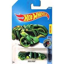 Hot Wheels - Speed Spider Green - Araña Verde Street Beasts