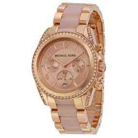 23f8890126bfb Relogio Michael Kors Mk5415 Rose Gold Oversized - Relógios De Pulso ...