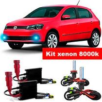 Kit Xenon H11 8000k Farol Milha Gol Saveiro G6 2013 A 2015