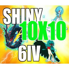 Pokemon Shiny Competitivos Ou Y Vgc Sol Y Luna Paquete 10x10