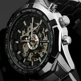 Relógio Masculino Importado Winner Preto Automático