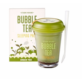 Etude House Bubble Tea Green Mascarilla De Noche Relajante