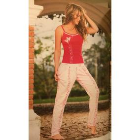 Pijamas Dama Pantalón Largo En Algodon, Colombianas D