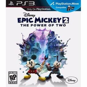 Epic Mickey 2 The Power Of Two Ps3 Mídia Física Lacrado