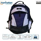Mochila Reforzada Para Notebook Manhattan 15-17 Azul