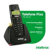 Telefone Fixo Sem Fio Bina Identificador Intelbras Ts 40 Id