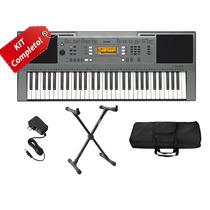Kit Teclado Musical Yamaha 61t Psr E353 Com Estante Ibox