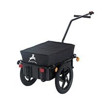 Remolque De Aosom Cerrado De Bicicletas De Carga - Negro