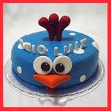 Torta1 Piso Gallina Pintadita Cumpleaños Niños Cupcakes S/89