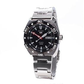 Seiko 5 Sport-automatic Negro Acero Inoxidable Del Dial...
