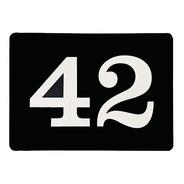 Placa Acrílico 2 Números Para Casa E Porta Apartamento