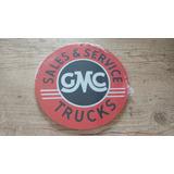 Placa Redonda Pequena Mdf Gmc Vendas E Serviços Caminhões