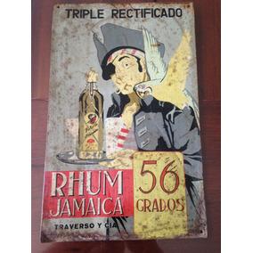 Letrero De Lata Rhum Jamaica 1950