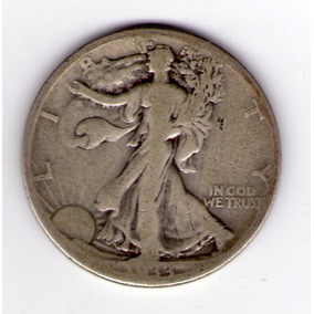 Estados Unidos 1/2 Dolar De Plata Año 1933s Walking