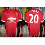 Manchester United 2014 Camisa Titular Número 20 Van Persie.