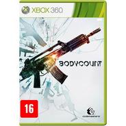 Bodycount Xbox 360 Jogo Original Dvd Lacrado Mídia Física