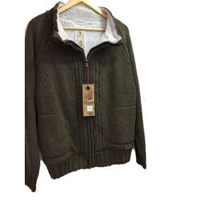 Sweater Saco Abrigo Lana Marca Stone Con Corderito Interior