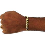 Pulseira Aço Inox Dourada Masculina Oferta Black Friday