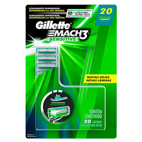 20 Cargas Gillette Mach3 Sensitive