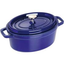 Panela Caçarola Oval 31cm Ferro Fundido Azul Marinho - Staub