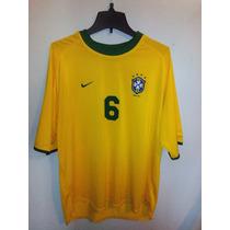 Pro - Jersey Brasil Local 00 / 02 Nike Xl Roberto Carlos