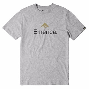 Remera Emerica Logo Tee / Gris Estampa