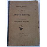 1904 Ciudad De Buenos Aires Actas Comision Municipal