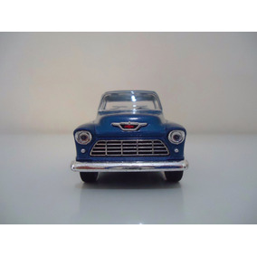 Miniatura Em Metal Carro Antigo Chevy Stepside Pick-up 1955