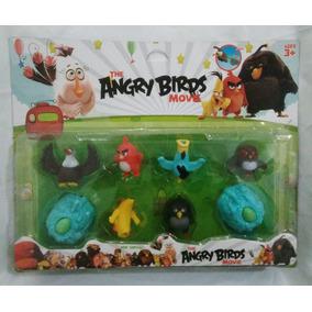Coleção 8 Bonecos Angry Birds - Brinquedo