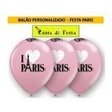 Balões Temáticos - Paris N°10 - 50 Unidades