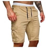 Shorts Cargo Bermuda Hombre Gabardina Pantalones Jogging