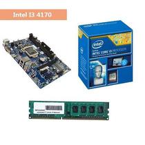 Kit Processador Intel I3 4170 Placa Mae H81 Memoria 4gb