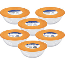 Conjunto De Pote Em Vidro 3l C/tampa Plástica 6peças Marinex