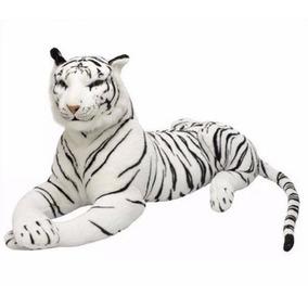 Tigre De Pelúcia 63 Cm Branco