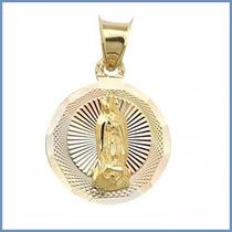 Medalla Catolica De La Virgen Maria En Oro Solido 14k Acc