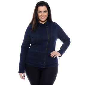 Jaqueta Jeans Azul Tamanho Grande